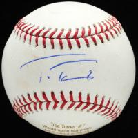 Trea Turner Signed OML Career Stat Engraved Baseball (JSA COA) at PristineAuction.com