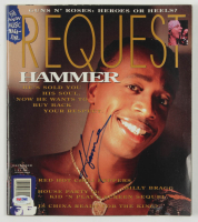 MC Hammer Signed 1991 Request Magazine (PSA COA) at PristineAuction.com