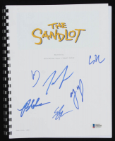 """The Sandlot"" Movie Script Cast-Signed by (6) with Tom Guiry, Chauncey Leopardi, Marty York, Shane Obedzinski, Victor DiMattia & Brandon Adams (Beckett COA) at PristineAuction.com"