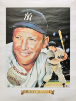 Mickey Mantle Signed LE Yankees 18x24 Lithograph Display (Beckett LOA) at PristineAuction.com