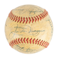 1950 Yankees OAL Baseball Signed by (18) with Joe DiMaggio, Yogi Berra, Phil Rizzuto, Casey Stengel (JSA LOA) at PristineAuction.com