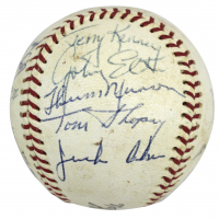 1969 Yankees OAL Baseball Signed by (19) with Thurman Munson, Mel Stottlemyre, Bill Robinson (Beckett LOA) at PristineAuction.com