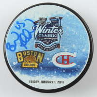 Brad Marchand Signed 2016 Winter Classic Logo Hockey Puck (YSMS COA) at PristineAuction.com