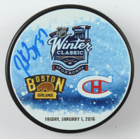 Patrice Bergeron Signed 2016 Winter Classic Logo Hockey Puck (YSMS COA) at PristineAuction.com