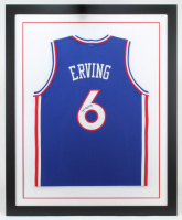 Julius Erving Signed 35x43 Custom Framed Jersey (JSA COA) (See Description) at PristineAuction.com