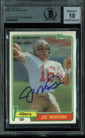 Joe Montana Signed 1981 Topps #216 RC (BGS Encapsulated) at PristineAuction.com
