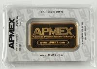 "1 Ounce .9999 Fine Gold ""APMEX"" Bullion Bar at PristineAuction.com"