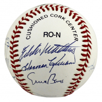 500 Home Run Club ONL Baseball Signed by (10) with Ernie Banks, Willie Mays, Hank Aaron, Reggie Jackson (PSA LOA) at PristineAuction.com