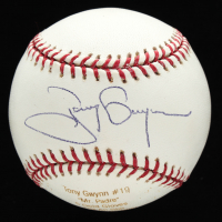 Tony Gwynn Signed OML Career Stat Engraved Baseball (JSA COA) at PristineAuction.com