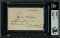 "William Howard Taft Signed 2.75x4.15 White House Card Inscribed ""With Compliments and Best Wishes"" (BGS Encapsulated) at PristineAuction.com"