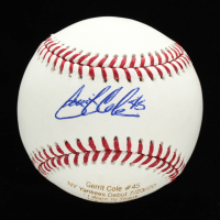 Gerrit Cole Signed OML Career Stat Engraved Baseball (JSA COA) at PristineAuction.com