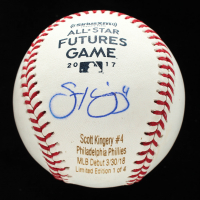 Scott Kingery Signed OML Career Stat Engraved Baseball (JSA COA) at PristineAuction.com