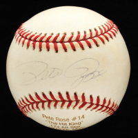 Pete Rose Signed ONL Career Stat Engraved Baseball (JSA COA) at PristineAuction.com