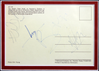 """""""U2"""" 24.5x26.5 Custom Framed Postcard Display Band-Signed by (4) with Bono, The Edge, Adam Clayton & Larry Mullen (Beckett LOA) at PristineAuction.com"""