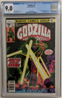 "1977 ""Godzilla"" Issue #2 Marvel Comic Book (CGC 9.0) at PristineAuction.com"