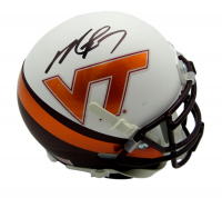 Michael Vick Signed Virginia Tech Hokies Custom Matte White Mini Helmet (JSA COA) at PristineAuction.com