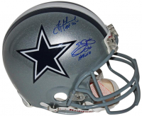 "Troy Aikman & Emmitt Smith Signed Cowboys Full-Size Authentic On-Field Helmet Inscribed ""HOF 06"" & ""HOF 2010"" (PSA COA) at PristineAuction.com"