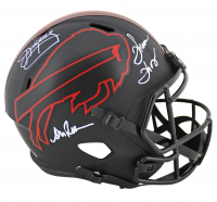 Jim Kelly, Thurman Thomas & Andre Reed Signed Bills Eclipse Alternate Speed Authentic On-Field Full-Size Helmet (JSA COA) at PristineAuction.com