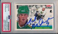 Mike Modano Signed 1991-92 Score Canadian Bilingual #313 FRAN (PSA Encapsulated) at PristineAuction.com