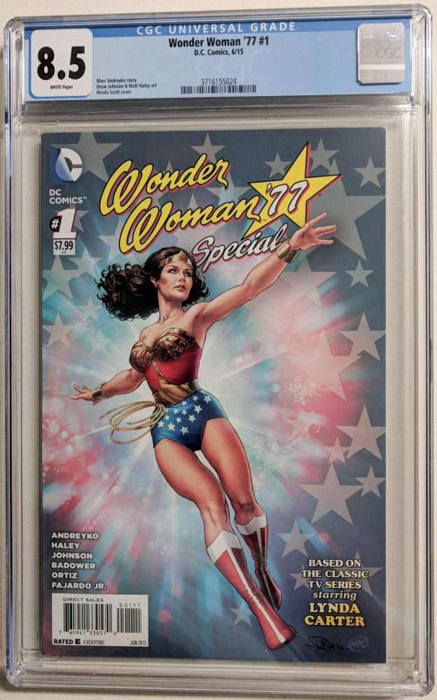"""2015 """"Wonder Woman '77"""" Issue #1 DC Comic Book (CGC 8.5) at PristineAuction.com"""