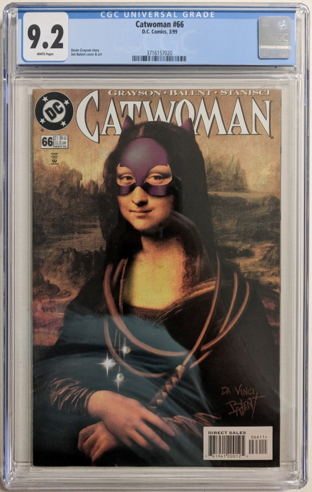 "1999 ""Catwoman"" Issue #66 DC Comic Book (CGC 9.2) at PristineAuction.com"