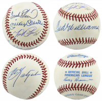 """Triple Crown Winners"" OAL Baseball Signed by (5) with Mickey Mantle, Ted Williams, Carl Yastrzemski, Miguel Cabrera & Frank Robinson (Beckett LOA) at PristineAuction.com"