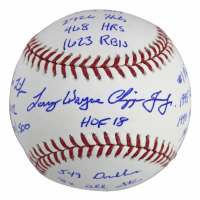 Chipper Jones Signed OML Baseball with (16) Career Stats Inscriptions (Beckett COA) at PristineAuction.com