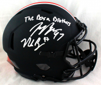 "Joey Bosa & Nick Bosa Signed Ohio State Buckeyes Full-Size Eclipse Alternate Authentic On-Field Speed Helmet Inscribed ""The Bosa Bros"" (Beckett COA) at PristineAuction.com"