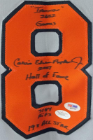 Carl Ripken Jr. Signed Jersey with (4) Career Inscriptions (JSA COA & PSA COA) at PristineAuction.com