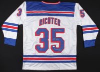 """Mike Richter Signed Jersey Inscribed """"94 S.C. Champs!"""" & """"#35 Retired 2/4/04"""" (JSA COA) at PristineAuction.com"""