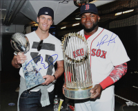 Tom Brady & David Ortiz Signed 16x20 Photo (Beckett LOA, Fanatics Hologram, Steiner Hologram & TriStar Hologram) at PristineAuction.com