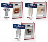 VINTAGE BASEBALL HALL OF FAMERS MYSTERY GAME WORN JERSEY SWATCH BOXES! at PristineAuction.com