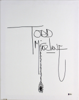 Todd McFarlane Signed 16x20 Hand-Drawn Sketch On Canvas (Beckett COA) at PristineAuction.com