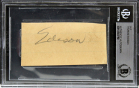 Thomas Edison Signed 1.6x3.2 Cut (BGS Encapsulated) at PristineAuction.com