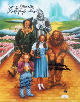 """Mickey Carroll, Jerry Maren & Karl Slover Cast-Signed """"The Wizard Of Oz"""" 11x14 Print With Multiple Inscriptions (JSA COA) at PristineAuction.com"""