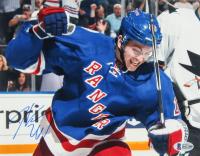 Jimmy Vesey Signed Rangers 8x10 Photo (Beckett COA) at PristineAuction.com