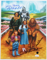 "Mickey Carroll, Jerry Maren & Karl Slover Cast-Signed ""The Wizard Of Oz"" 11x14 Print With Multiple Inscriptions (JSA COA) at PristineAuction.com"
