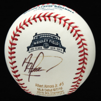 Albert Almora Jr. Signed OML Career Stat Engraved Baseball (JSA COA) at PristineAuction.com