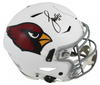 Larry Fitzgerald Signed Cardinals Full-Size Authentic On-Field Speed Flex Helmet (Beckett COA) at PristineAuction.com