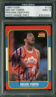Melvin Turpin Signed 1986 Fleer #116 (PSA Encapsulated) at PristineAuction.com