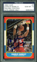 Charles Barkley Signed 1986-87 Fleer #7 RC (PSA Encapsulated) at PristineAuction.com