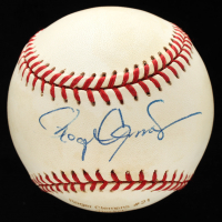 Roger Clemens Signed OAL Career Stat Engraved Baseball (PSA COA) at PristineAuction.com