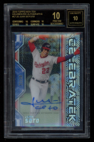 Juan Soto 2019 Topps High Tek CelebraTEK Autographs #CTJS (BGS 10) at PristineAuction.com