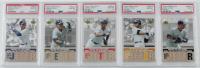 Lot of (5) PSA Graded Derek Jeter 2006 Upper Deck Derek Jeter Spell and Win Baseball Cards with #PBDJ1 (PSA 10), #PBDJ2 (PSA 10), #PBDJ3 (PSA 10), #PBDJ4 (PSA 10) & PBDJ5 (PSA 9) at PristineAuction.com