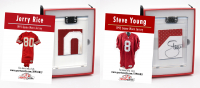 JERRY RICE & STEVE YOUNG 49ERS GAME WORN JERSEY MYSTERY SWATCH BOXES! at PristineAuction.com