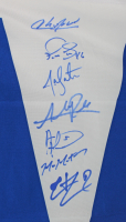 Cubs LE 36x60 Flag Team-Signed by (20) With Kris Bryant, Ben Zobrist, Addison Russell, Jon Lester, Dexter Fowler (MLB Hologram & Fanatics Hologram) at PristineAuction.com