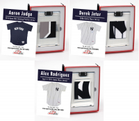 DEREK JETER, ALEX RODRIGUEZ AND AARON JUDGE NY GAME WORN MYSTERY SWATCH BOXES! at PristineAuction.com