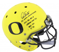 Dan Fouts Signed 2016-18 Game Used Oregon Ducks Full Size Authentic On-Field Helmet with (5) Inscriptions (Fanatics Hologram & Beckett COA) at PristineAuction.com