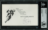 "David Bowie Signed ""Isolar"" 3.25x5.5 Business Card (BAS Encapsulated) at PristineAuction.com"