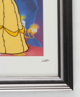 """Walt Disney's """"Beauty And The Beast"""" 13.5x16.5 Custom Framed Hand-Painted Animation Cel Display at PristineAuction.com"""